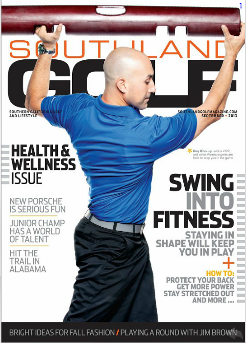 Roy Khoury Fitness Southland Golf magazine cover